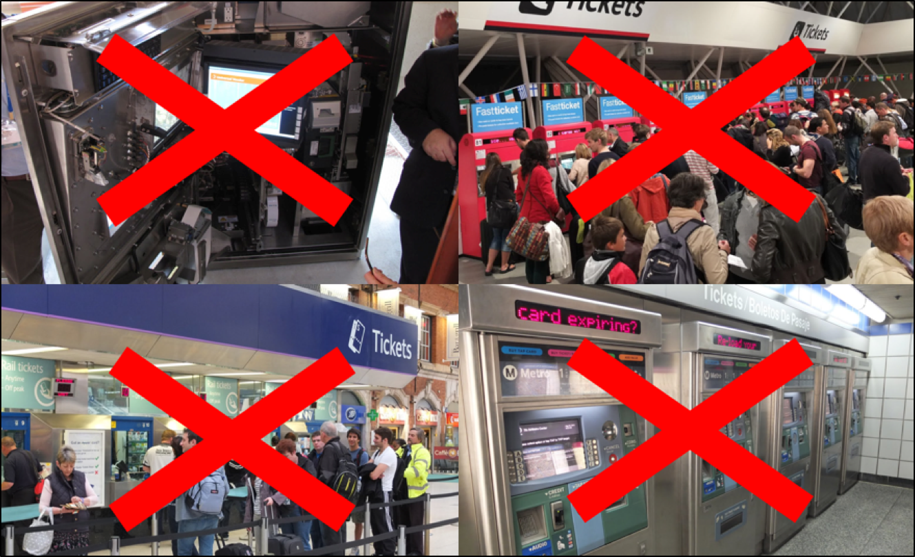 No Queue No ticket vending machine