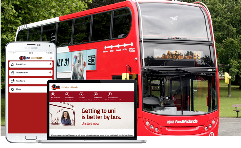 National Express West Midlands App Sells One Million Tickets