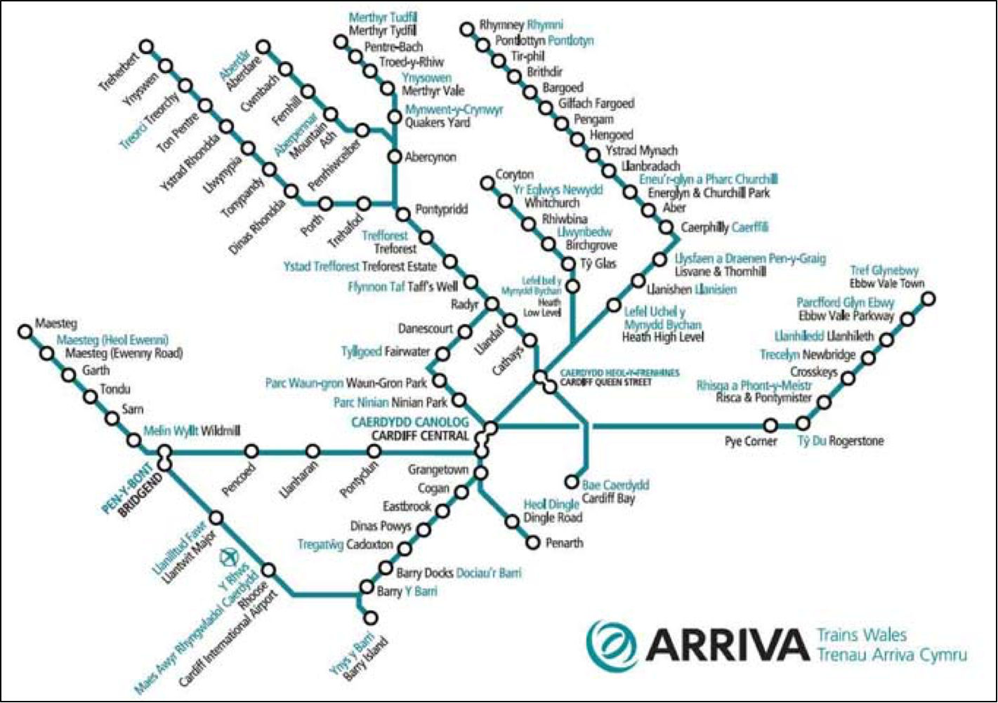Arriva Trains Wales Map Arriva Trains Wales Railway Network Athens Tourist Attractions Map Arriva Trains Wales Map